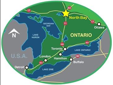 Map North Bay Ontario Canada About North Bay | North Bay Immigration
